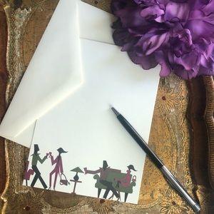 Anthropologie:Groovy Silhouette notecards/envelope